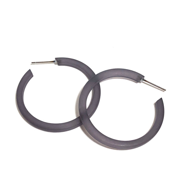 gray lucite hoops
