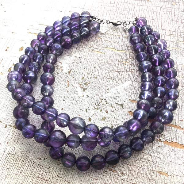 purple bubble necklace