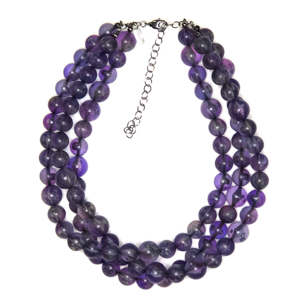 chunky purple necklace