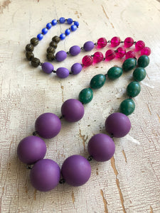 purple green necklace