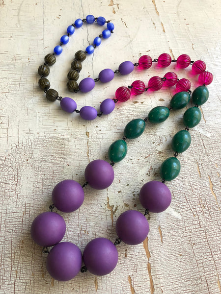 big purple necklace