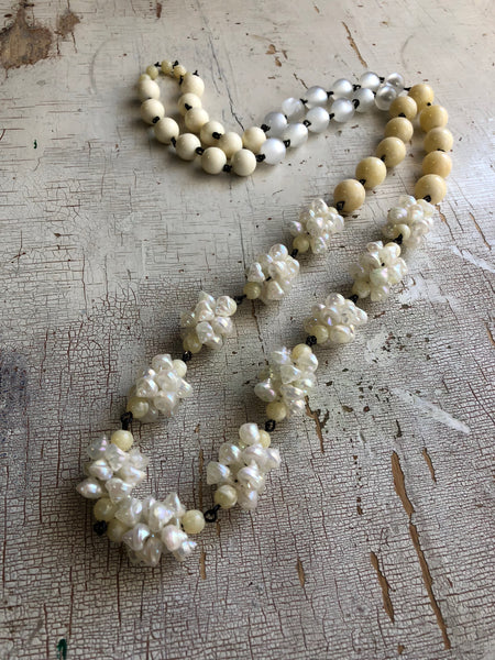 seashell long necklace