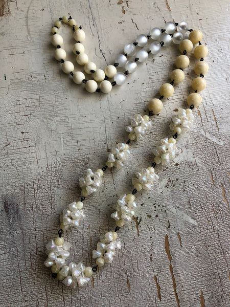 ivory linked necklace