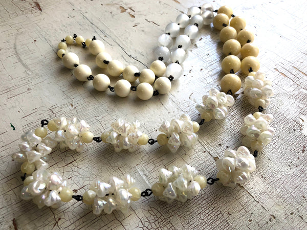 ivory long necklace