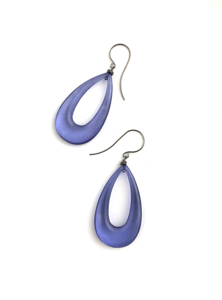 denim blue teardrop earrings