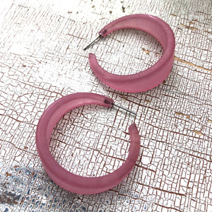 light purple hoop earrings