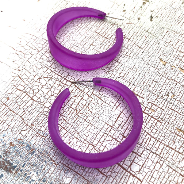 violet emily hoop earrings