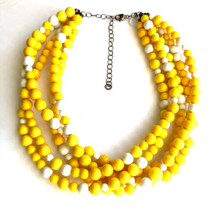 yellow sylvie necklace