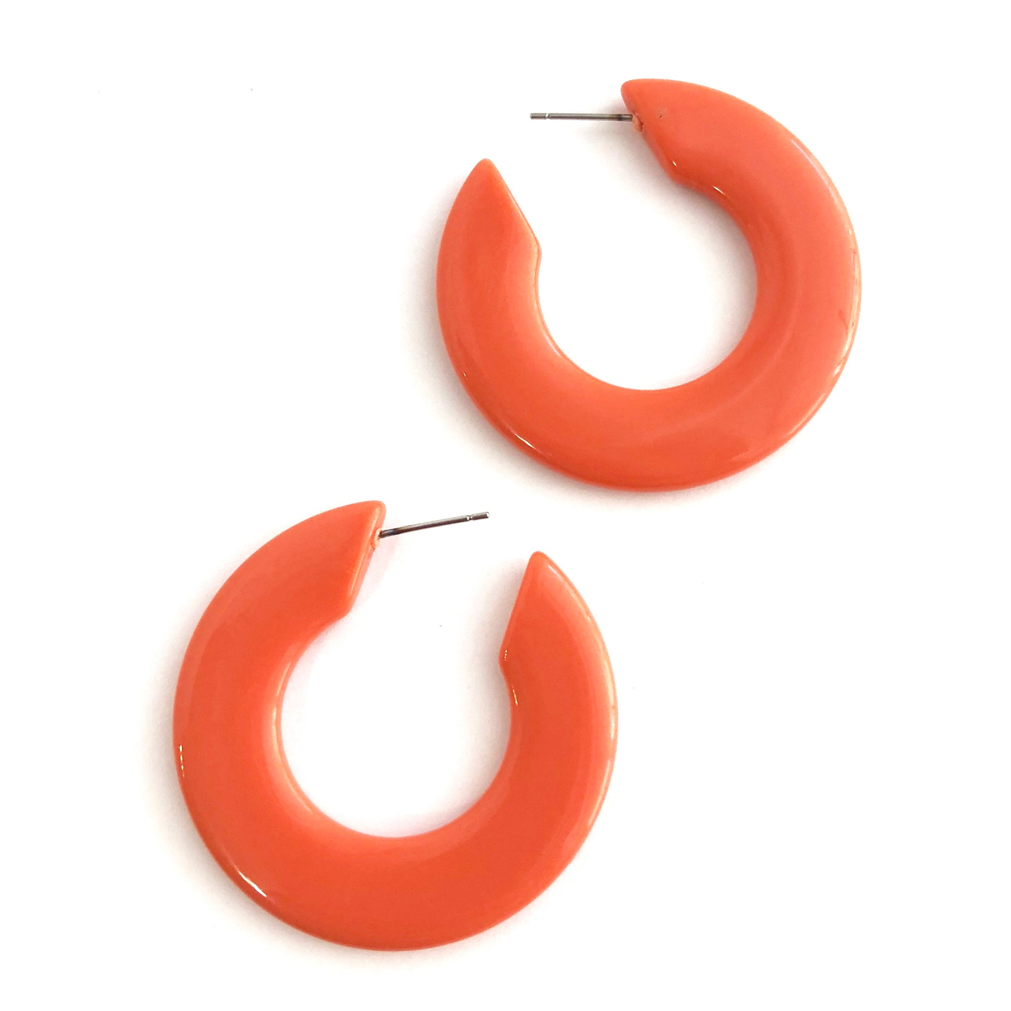 coral hoops twiggy