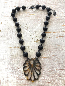 tortoise feather necklace