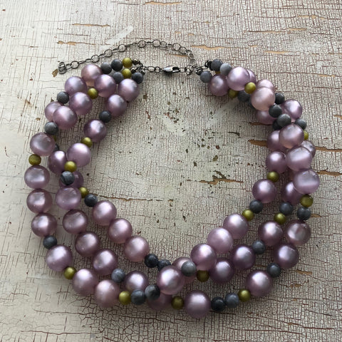 mauve moonglow necklace
