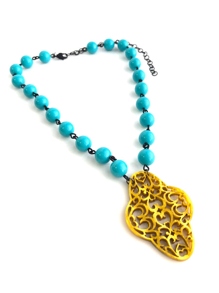 adjustable turquoise necklace