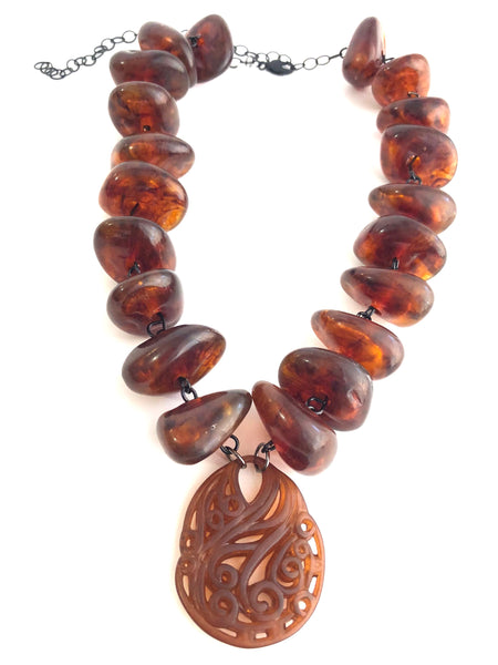 chunky baltic amber necklace