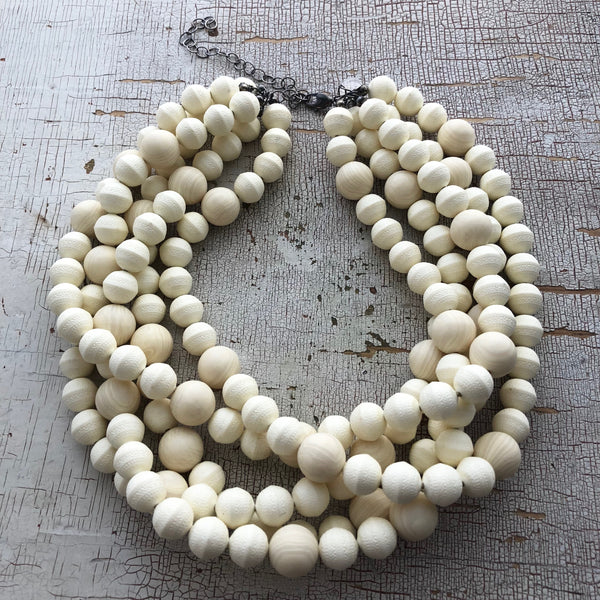 ivory carved necklace