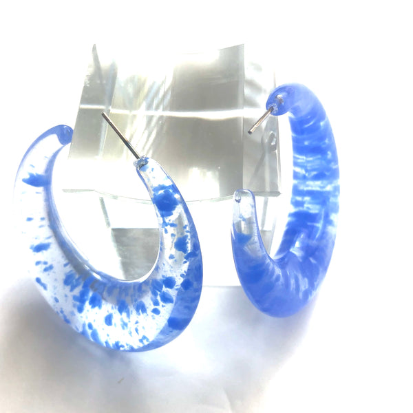 large resin blue hoops