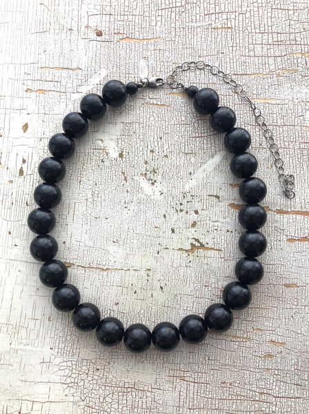 adjustable black marco necklace