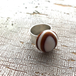 tortoise statement ring