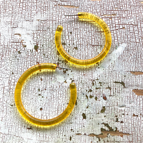 yellow tube hoops