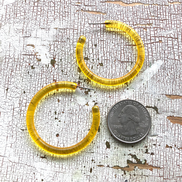 large yellow lucite hoops