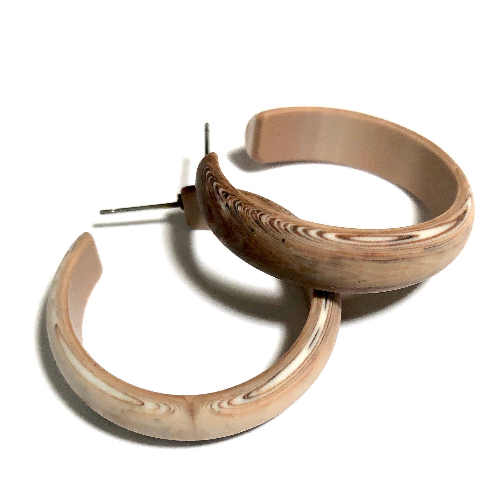 brown woody hoops