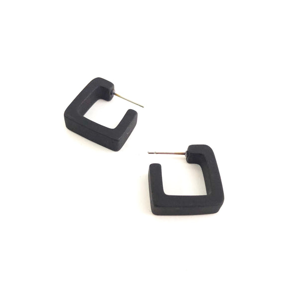 small black square hoops