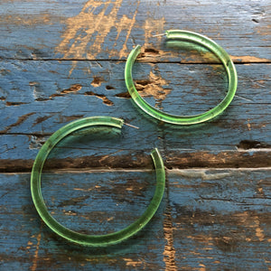 kelly green huge hoops