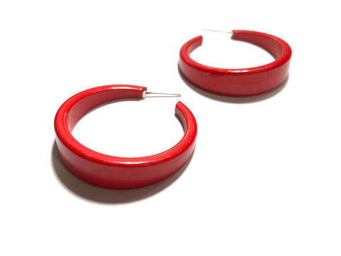 cherry red earrings big