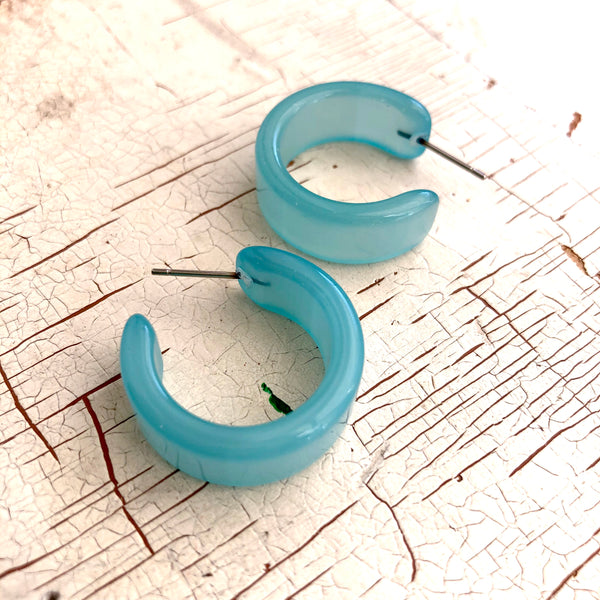 ice blue moonglow hoops
