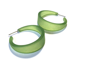 sea glass green hoops