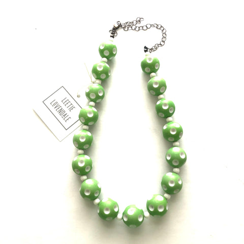 Green Polka Dot Heirloom Marco Necklace