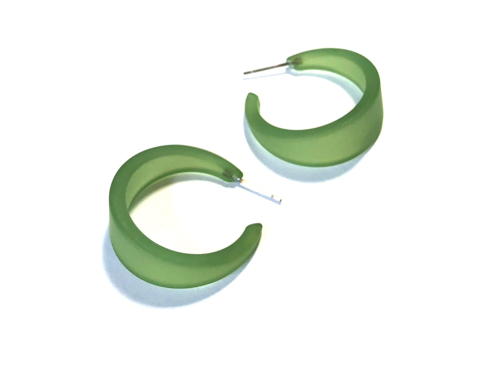 sea glass green earrings