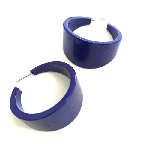 huge navy blue hoops