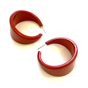mahogany brown hoops