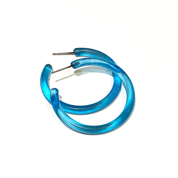 aqua blue earrings