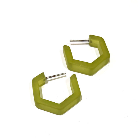 olive green hex hoops