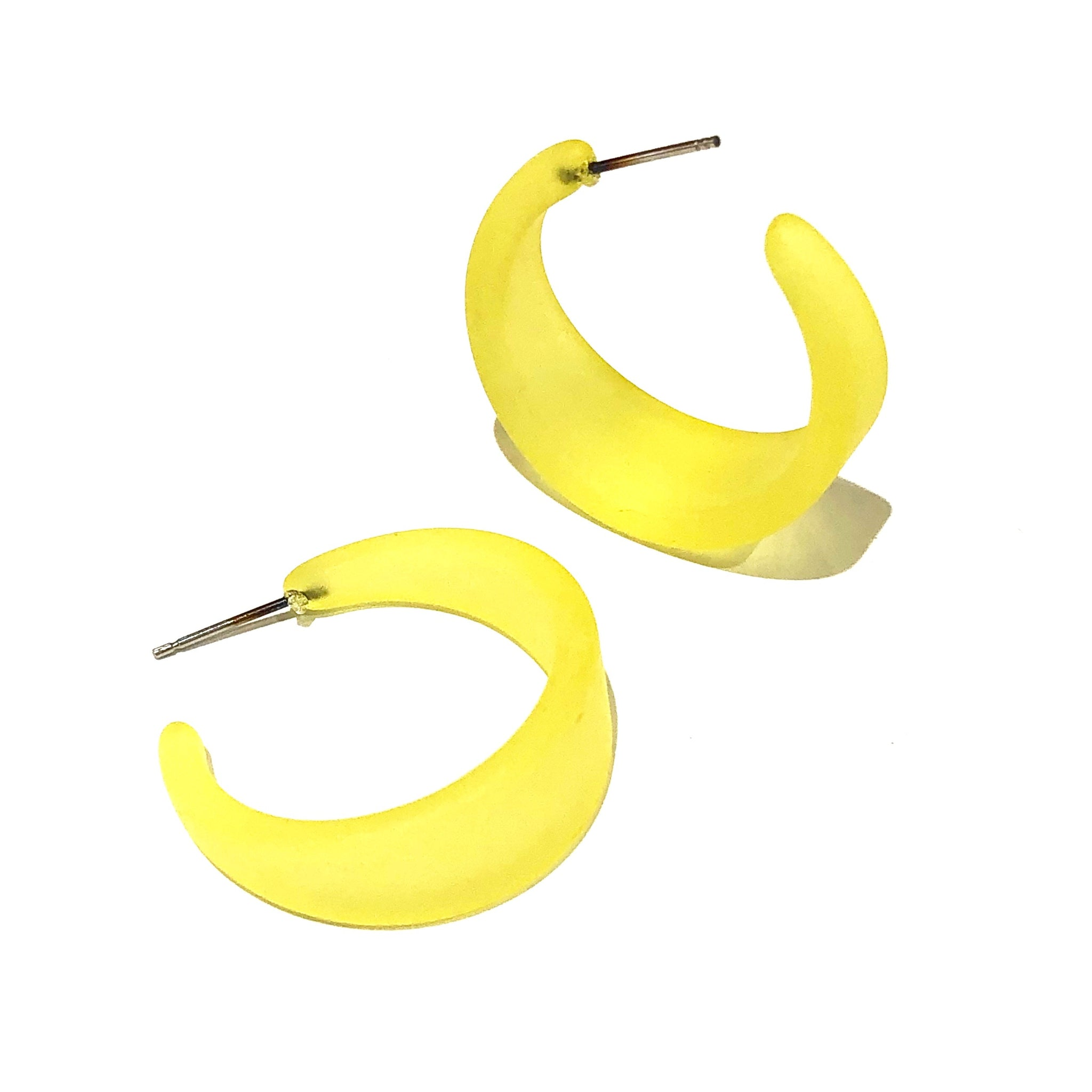 lemon yellow hoops