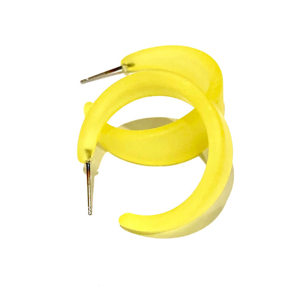 large yellow hoops