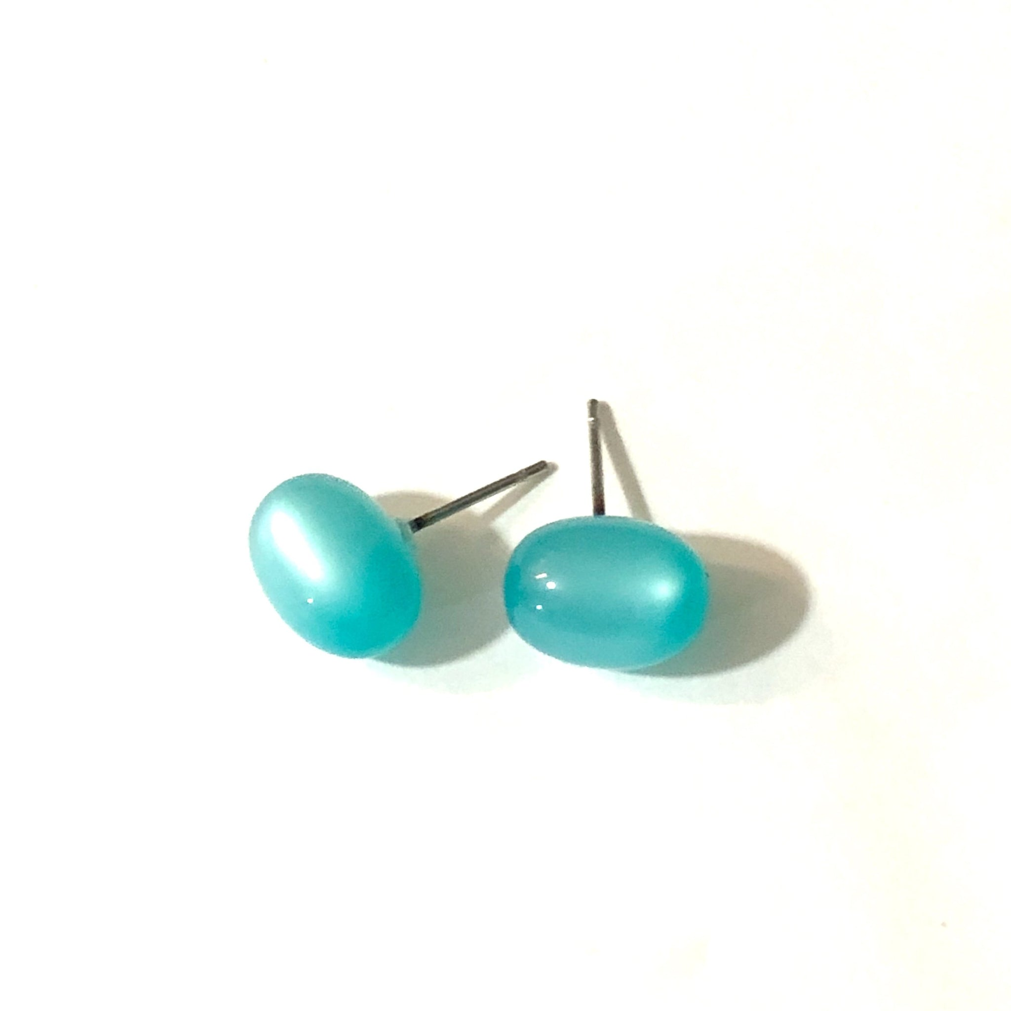 aqua moonglow studs