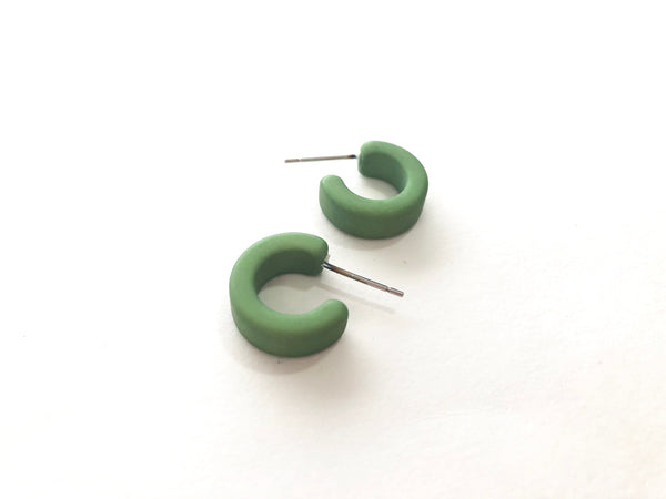 lime green hugger hoops