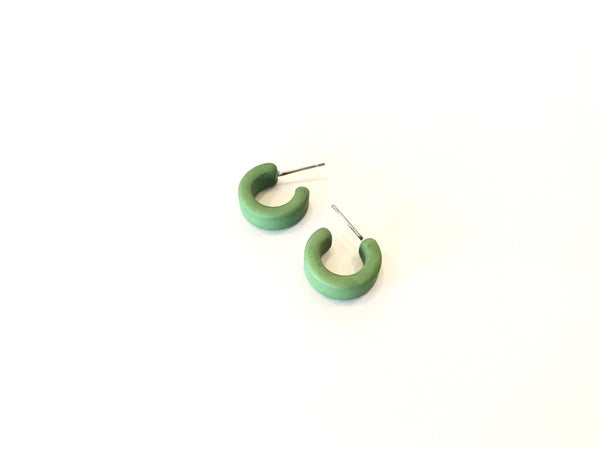 small lime green hoops