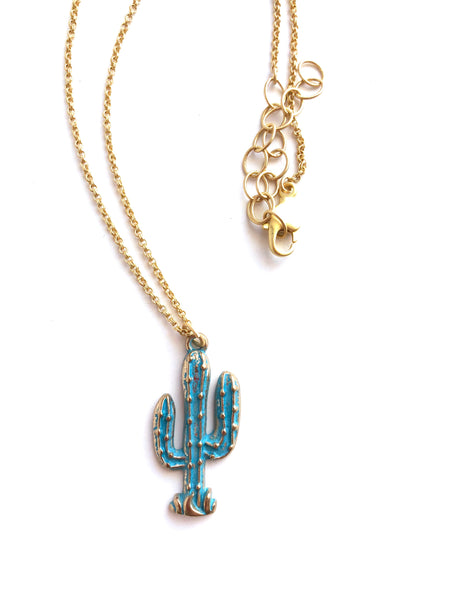 adjustable cactus necklace