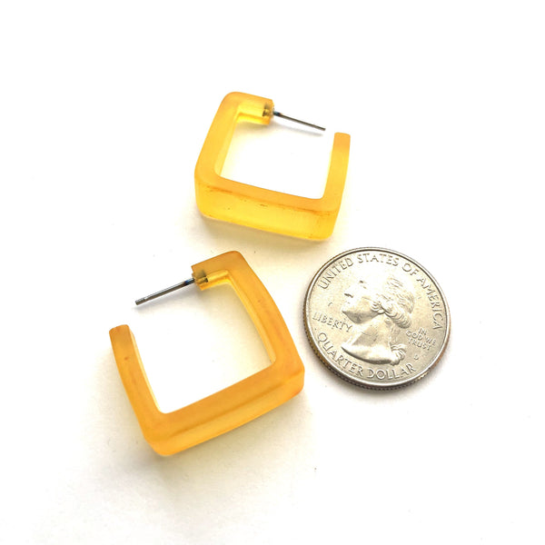 dark yellow square hoops