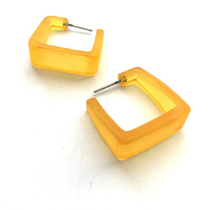 golden yellow cubist hoops