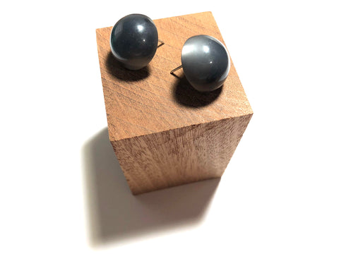 charcoal grey earrings