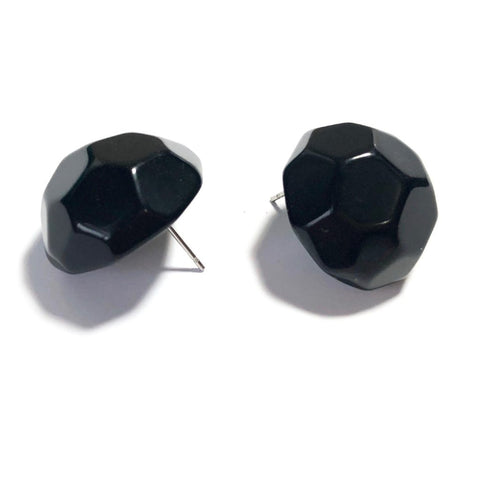 black button earrings