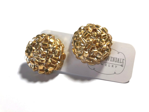 metallic gold studs