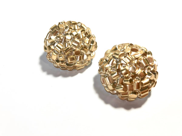 bright gold studs