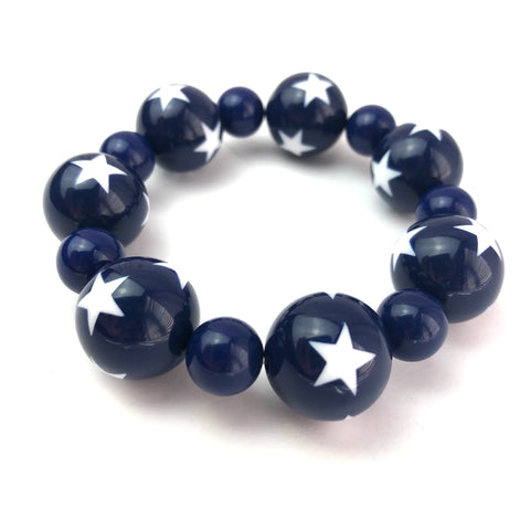 Blue & White Star Statement Stack Bracelet