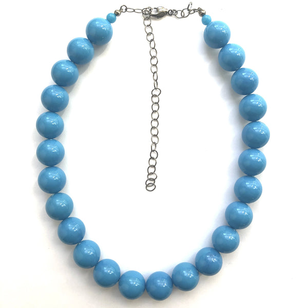 turquoise lucite necklace