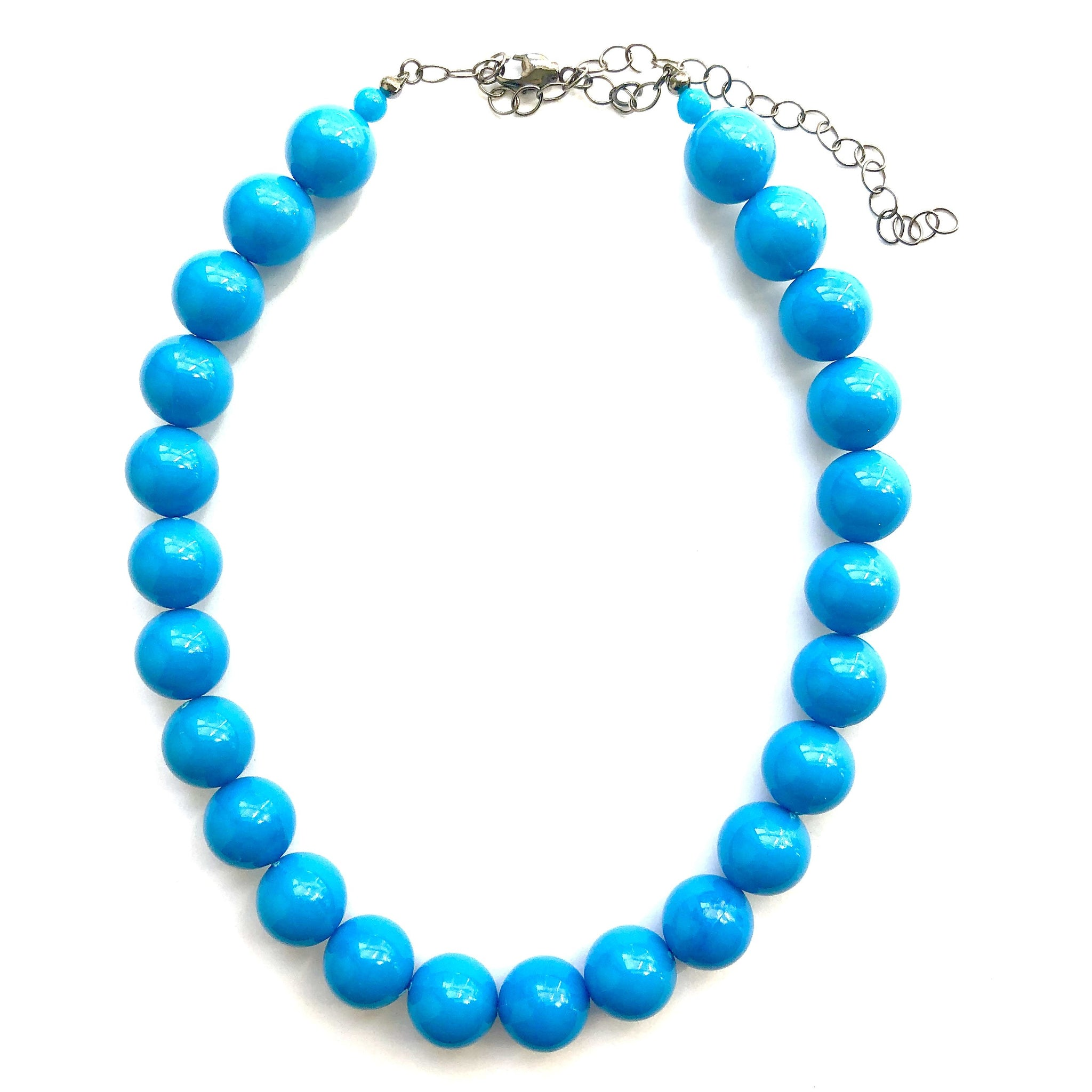 turquoise chunky necklace